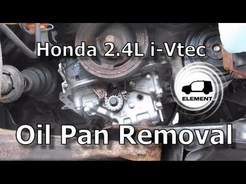 Honda 2.4 Liter V-TEC Engine Part 1: Oil Pan Removal