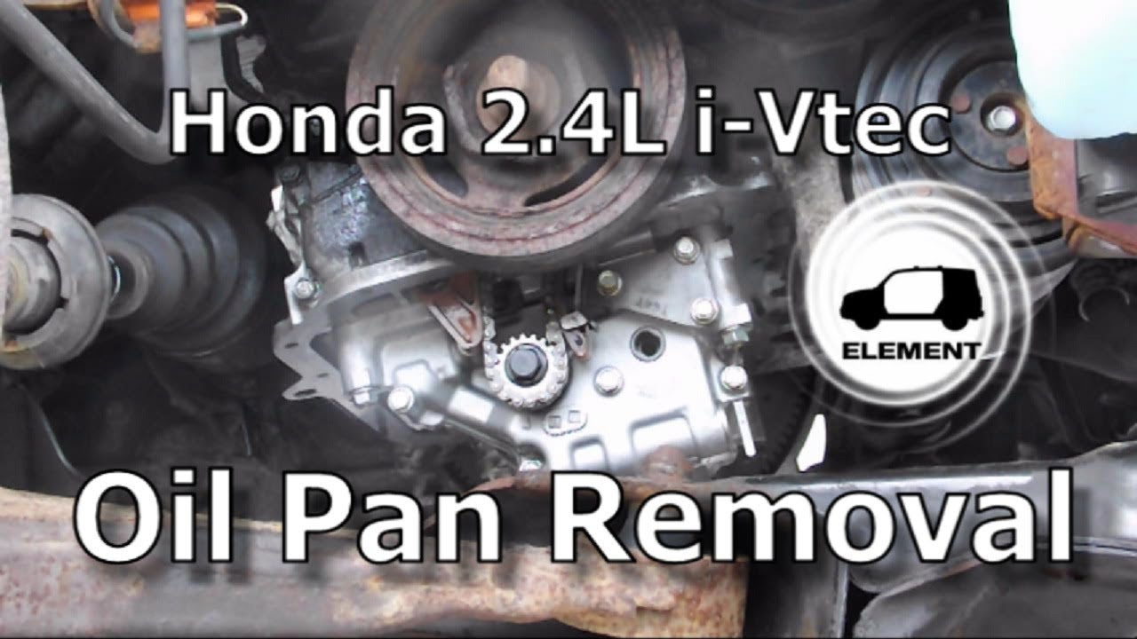 Honda 2.4 Liter V-TEC Engine Part 1: Oil Pan Removal - YouTube