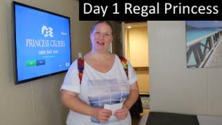 Day 1 Cabin & Lunch! Regal Princess Cruise Vlog episode 2