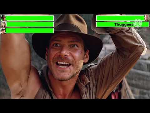 Indiana Jones and the Temple of Doom Bridge Battle with healthbars |