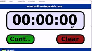 Online Stopwatch Fastest time in the world!