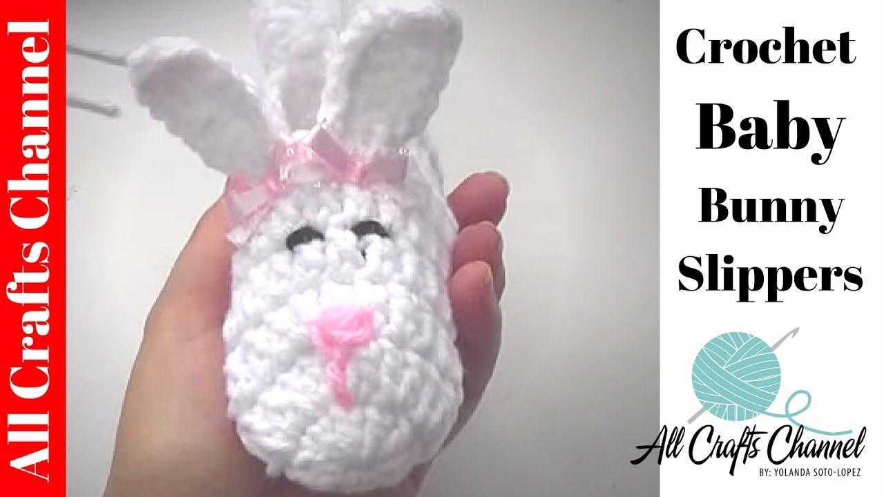 Easy Crochet Baby Bunny Slipper Youtube