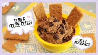 Healthy Cookie Dough Dip! Only 5 Ingredients & Healthy!