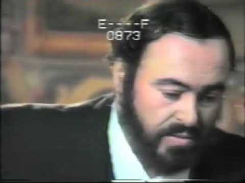 Luciano Pavarotti never seen before taping Sole e Amore by G. Puccini