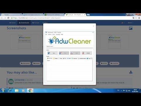 AdwCleaner - удаление рекламных программ, расширений браузера и потенциально нежелательного ПО