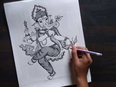 Easy Line Art Drawing Of Lord Ganesha Ganesh Chaturthi Drawing Step By Step For Beginners Ganesha Youtube
