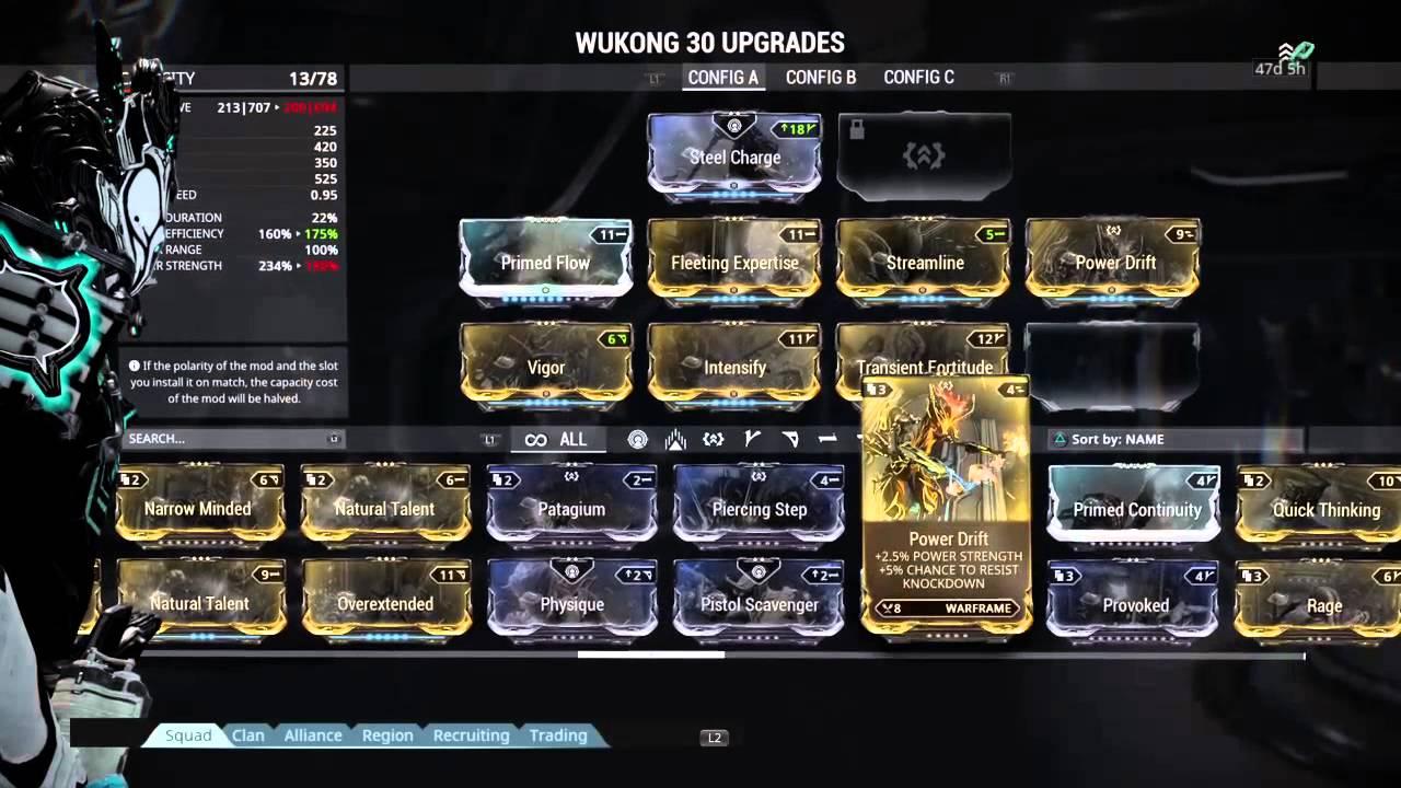 Build Wukong Warframe