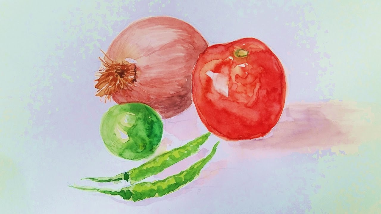Still life with watercolor: how to draw interesting and error free 73