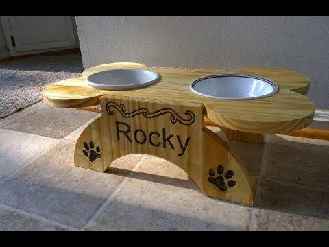 DIY CNC - Raised Dog Food Bench - Quick Project