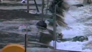 Video flagra possível motorista em carro arrastado por onda de Tsunami 11-03-2011