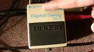 BOSS Digital Delay DD-3 ıslak ve kuru ayarlamak gitar amfileri çalışan stereo -