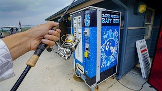 Saltwater Fishing Bait VENDING MACHINE!! (Fishing Challenge)