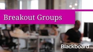 En petits Groupes, à Blackboard Collaborer avec l'Ultra de l'Expérience