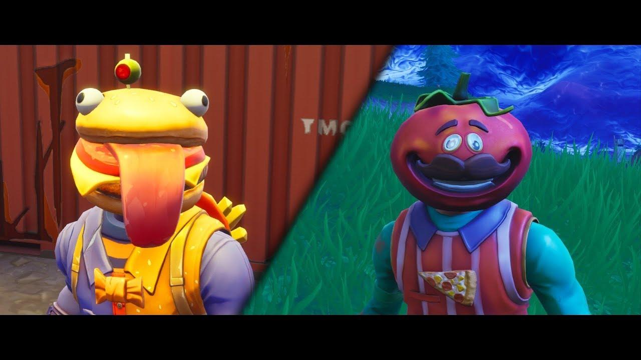 beef boss vs tomato head new skin fortnite short film - fortnite beef boss head