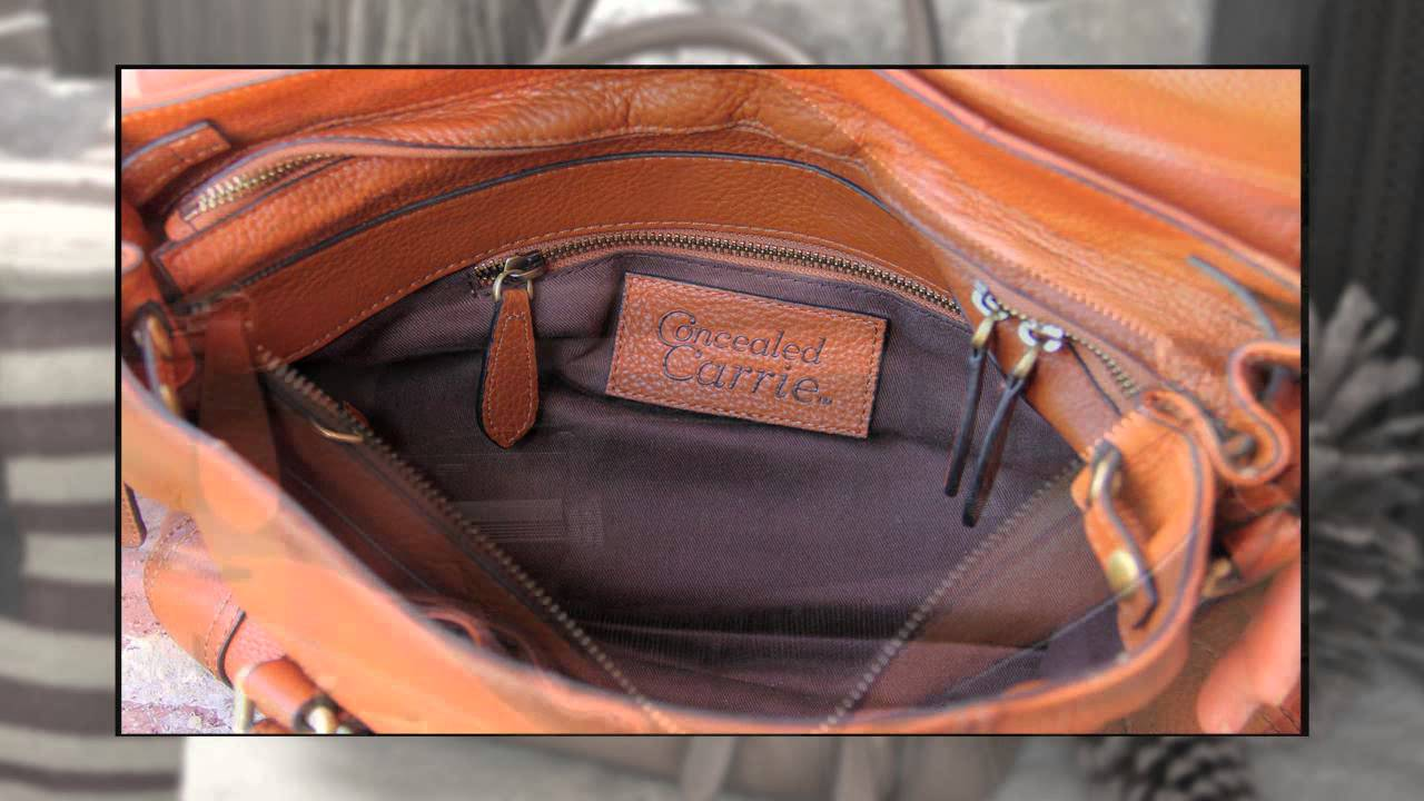 5cccb845b8f Smooth Aged Leather Satchel by Concealed Carrie