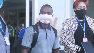 Weightlifter, Julius Ssekitoleko whisked away by security agents at airport