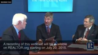 NAR Webcast on the New Closing Rules--Are You Ready for October 1st?