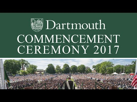 Dartmouth Commencement 2017