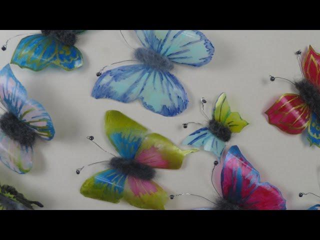 Schmetterlinge Aus Plastikflaschen Basteln Deko Ideen Mit Flora