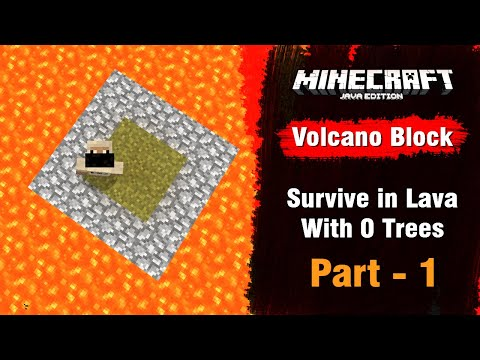 Volcano Block #1 - Survive In Lava With 0 Trees - Minecraft Java | In Hindi | BlackClue Gaming