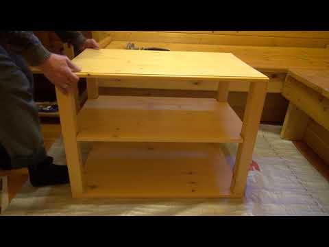 Как сделать столик своими руками на колесиках