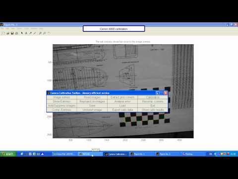 Camera Calibration by flat chess pattern using Matlab.