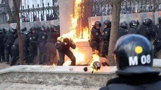 На Украине Вступают В Силу Законы, Ужесточающие Наказания За Беспорядки И Насилие. 2014