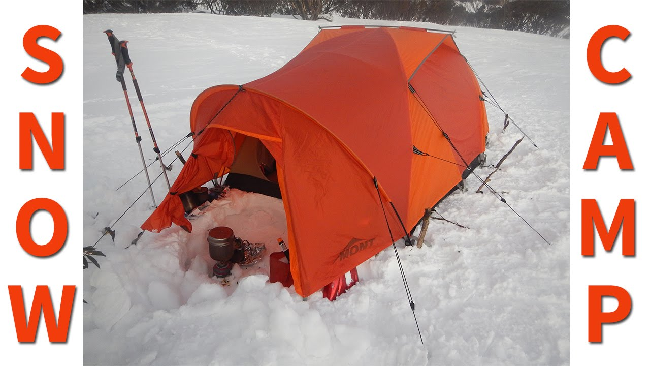 & Winter Camping in a Snow Tent - YouTube