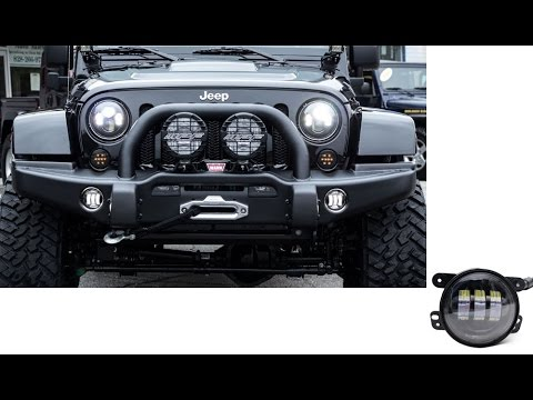 Jeep Wrangler Jk 30w High Power Cree 4 Inches Round Led