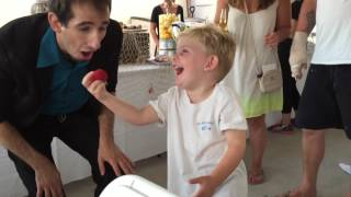 Cute kid loves magic of illusionist Joshy K!
