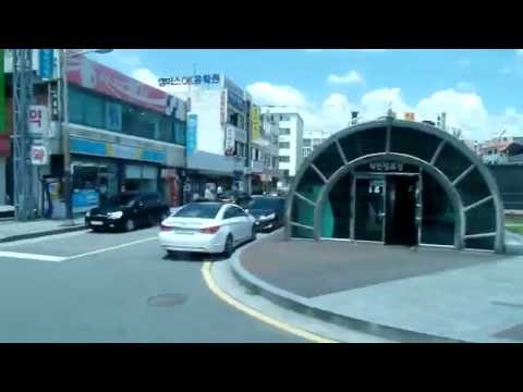 전주 덕진 간이 버스 터미널, Korea Express Bus Trip from Jeonju(全州,전주 ) to Gunsan(群山, 군산)  , Jeonju . KOREA