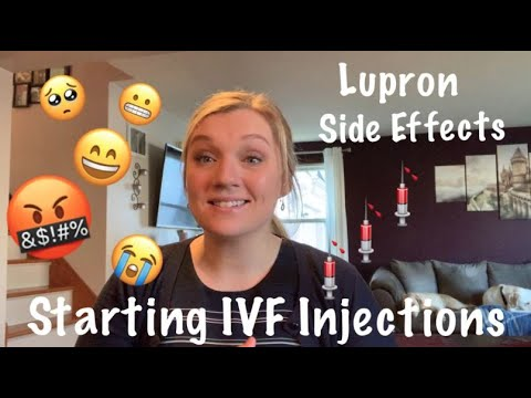 Starting IVF Injections || Lupron Side Effects