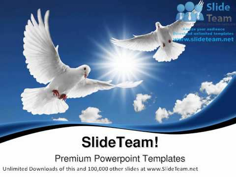 Two Flying Doves Animals PowerPoint Templates Themes And Backgrounds ppt themes