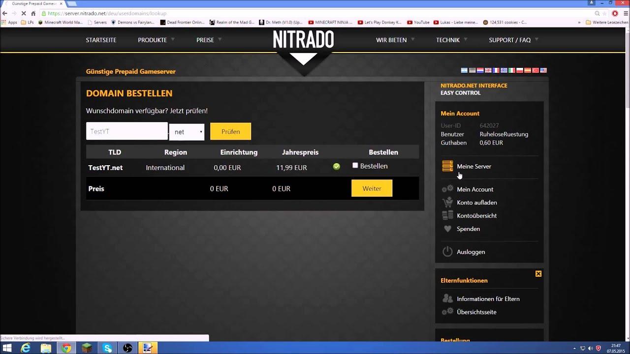 Tutorial Minecraft Nitrado Server Bild Und IP ändern YouTube - Eigenen minecraft server erstellen nitrado