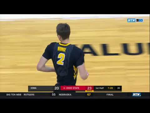 (NCAAM) Iowa Hawkeyes at #14 Ohio State Buckeyes in 40 Minutes (2/10/18)