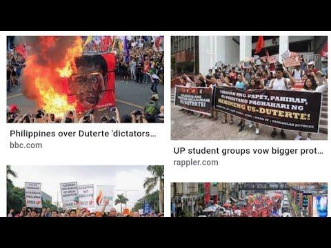 Philippines Uprise In Protest Against President Rodrigo Duterte ,By Eric Pangilinan