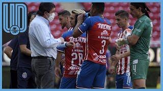 El técnico del Club Guadalajara debutó a dos canteranos de Chivas durante el aprtido contra Santos de la Jornada 2 del torneo Guardianes 2020