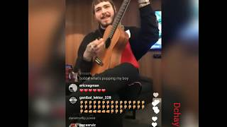 Post Malone sings country song live
