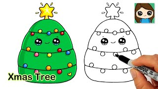 How to Draw a Christmas Tree Easy Holiday Squishmallows