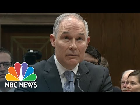 Scott Pruitt Addresses Controversial Phone Booth Purchase At Senate Hearing | NBC News