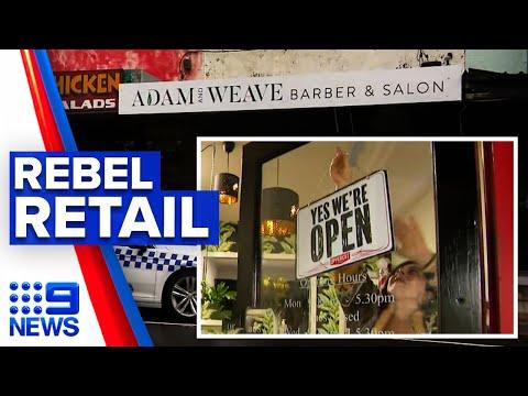 Coronavirus: Victoria hair salon opens despite lockdown rules | 9 News Australia