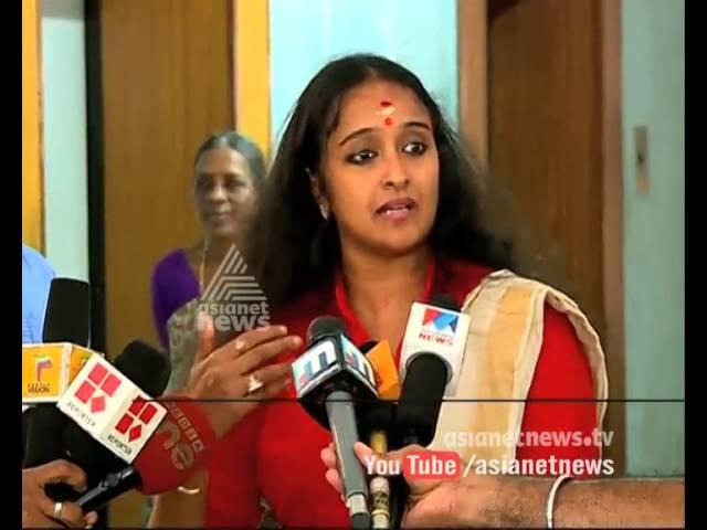Shalu Menon denies the allegation that Biju gave her money in solar scam