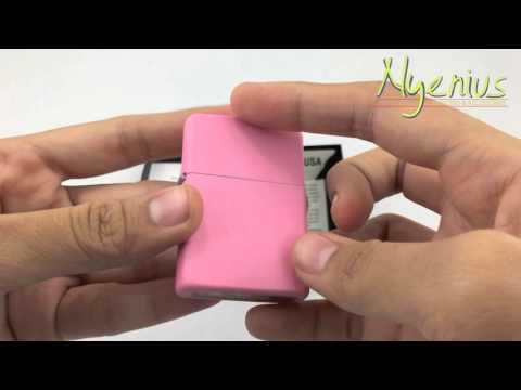Unboxing Zippo 238 Pink Matte