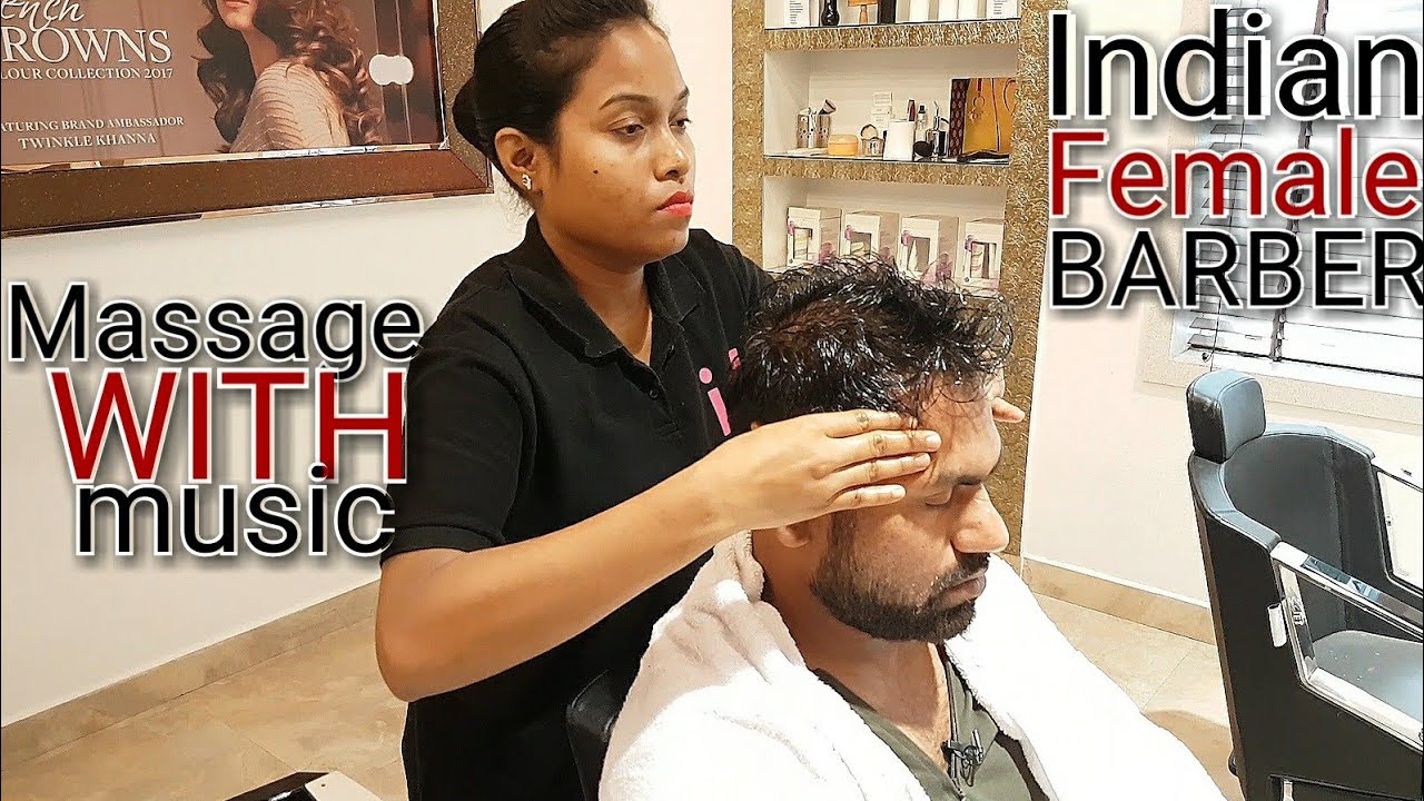 Head Massage By Indian Female Massuese With Pleasant Music Asmr Videos