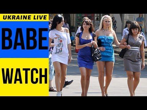 Babe Watch LIVE, Khreshchatyk Street, Kiev Girls Ukraine 2019