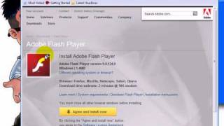 How-To Find, Download and Install the Adobe Flash Player plug-in onto Firefox