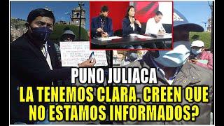 PUNO JULIACA ADVIERTEN A KEIKO FUJIMORI QUE LAS COSAS NO SON COMO ANTES. NULIDAD DE ACTAS PERU 2021