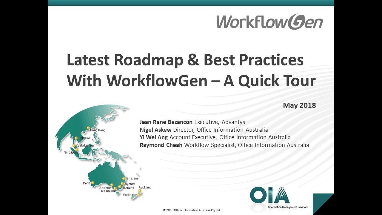 Webinar: Latest Roadmap and Best Practices with WorkflowGen