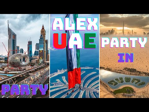 Party in Dubai. Visit to the UAE (4k)