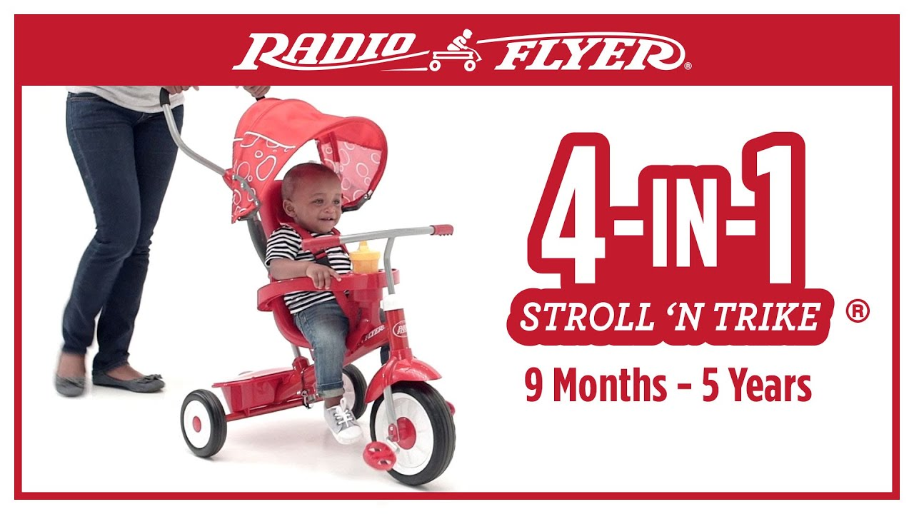 Radio Flyer 4-in-1 Trike Red by Radio Flyer: Amazon.it ...